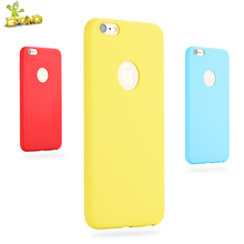 OTAO Phone Case For iPhone 6 6S Plus 7 Plus Matte Plain Case Ultra-Thin Soft Silicon Back Cover Frosted Candy Color(China)