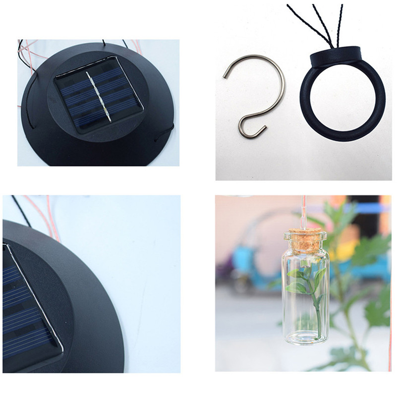 Solar Color-Changing Wind Chime Light LED Garden Hanging Spinner Lamp Color Changing Wind Chime Light Luces 40JUN2510
