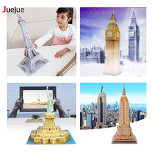 3D DIY Puzzle Jigsaw Baby toy Kid Early learning gift Children Brinquedo Assembling toy Eiffel Tower Puzzle Educativo Decoration