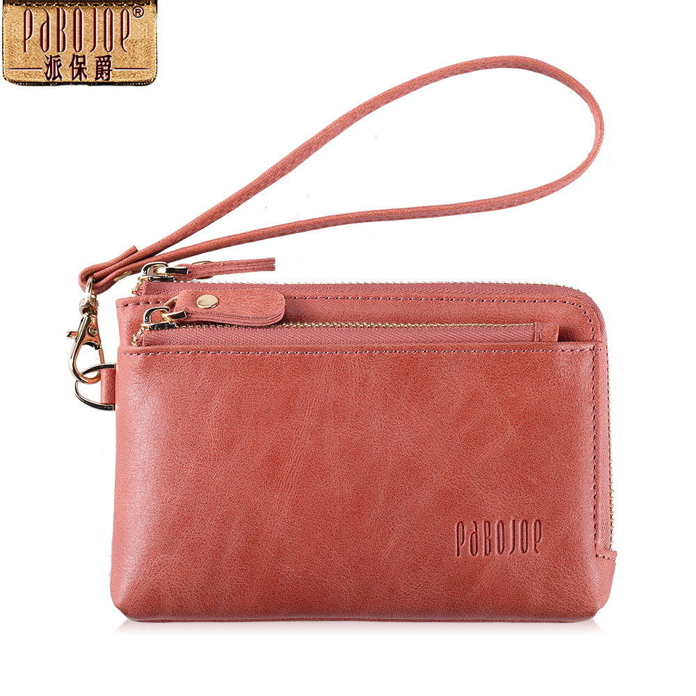 Pabojoe vintage genuine leather women wallets small coin purse casual female purse<br>