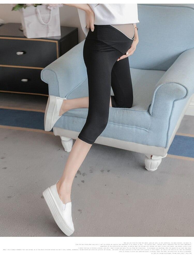 Compre Algodón Modal Maternity Legging Moda De Verano Ropa Interior ...