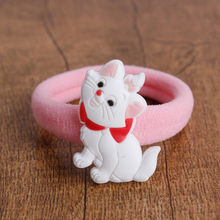 GC831 2pcs/set Hair Rope Cute Cartoon Elastic Gum Rabbit Mikey Pony Princess Pattern Rezinochki Haar Elastiekjes Hair Accessoies(China)
