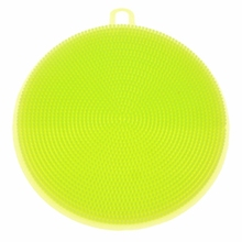 Best Silicone Dish Washing Sponge Scrubber Kitchen Cleaning antibacterial Tools green(China)