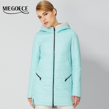 2017 de las mujeres delgadas calientes mujeres abrigos chaquetas parka con capucha de las mujeres chaquetas de moda y abrigo miegofce producto popular nueva llegada