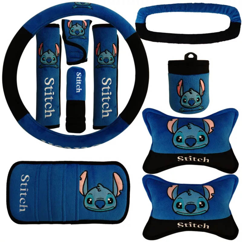 10pcs-set-Cute-Cartoon-Car-Seat-Cover-Interior-Accessories-Plush-Universal-Steering-Wheel-Cover-Set-for (16)5