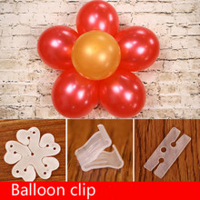 100pcs Flower Balloons Clip Baloon Globos Flor Balloons Decoration Accessories Plum Clip Practical Foil Balloons Sealing Clamp