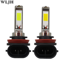 WLJH 2pcs 30W 800 Lumens COB Chip H11 Led Car Headlight Fog Light Bulbs DRL Daytime Running Light Driving Lamp Bulb 12V 24V 30V