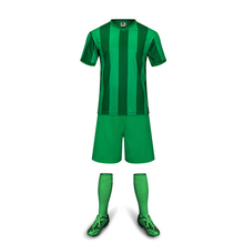 Free Shipping New Model Kids Soccer Jerseys Sets Boys Popular Natural Green Customized Name Children Football Team Suits Uniform