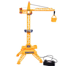Children's Developmental Toys Electric Cable Crane Toys Cable Tower Crane Engineering Vehicle for Kid Birthday Gift(China)
