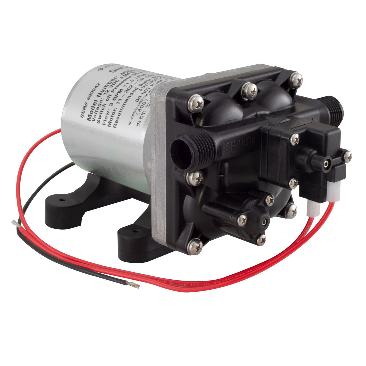 Boat Marine 12V Engine Oil Change Gear Pump 3.2 GPM Transfer Water Electric DC