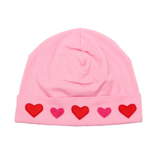 2017 NEW Boys Girls Spring Autumn Baby Cotton Beanies Baby heart pattern Design Hat Caps Newborn Photo Props baby hat 7 colors