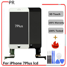 5pcs Replacement LCDs Touch Screen AAA 3d For iPhone 7plus 5.5'' LCD Display Replacement Display Digitizer White Black Assembly(China)
