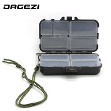 DAGEZI big Fishing Tackle Box for fishing Popper 9 Compartments can be adjustable Fly Fishing Box Fishing Accessories(China)