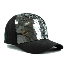 Women Men Baseball Cap Fish-Scale Sequins Caps Casual Snapback Hat For Girl Casquette Gorras Bone Hip Hop Cap(China)