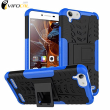 For Lenovo K5 Case TPU&PC New Back Cover Mixed Color Dual Armor Silicon Case with Stand For Lenovo K5 Plus A6020 Mobile Phone