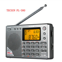 Tecsun PL-380 radio Digital PLL Portable fm Radio FM Stereo/LW/SW/MW ETM DSP air band Receiver tecsun pl380 radio free shipping(China)