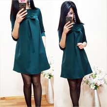 2017 New Summer Women Sweet Simple Loose Dress Bodycon Cute Female O-Neck Half Sleeve Green Blue Mini dress Plus Size Vestido