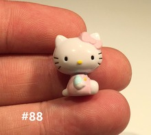 60pcs 2.3cm pink color hello kitty small figure toys kitty subminiature figure toys kitty DIY mini toys(China)