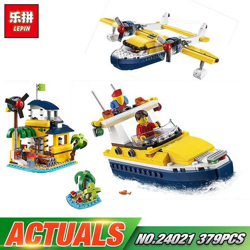 Lepin 24021 Changing Series 379Pcs The Pirate Adventure Tour Model Sets LegoINGly 31064 Buildings Blocks Bricks Kids Toys Gift<br>