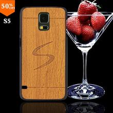 2016 wood case for samsun samsung galaxy s5 s 5 i9600 wood skin case with hard by cover mobile phone covers wooden
