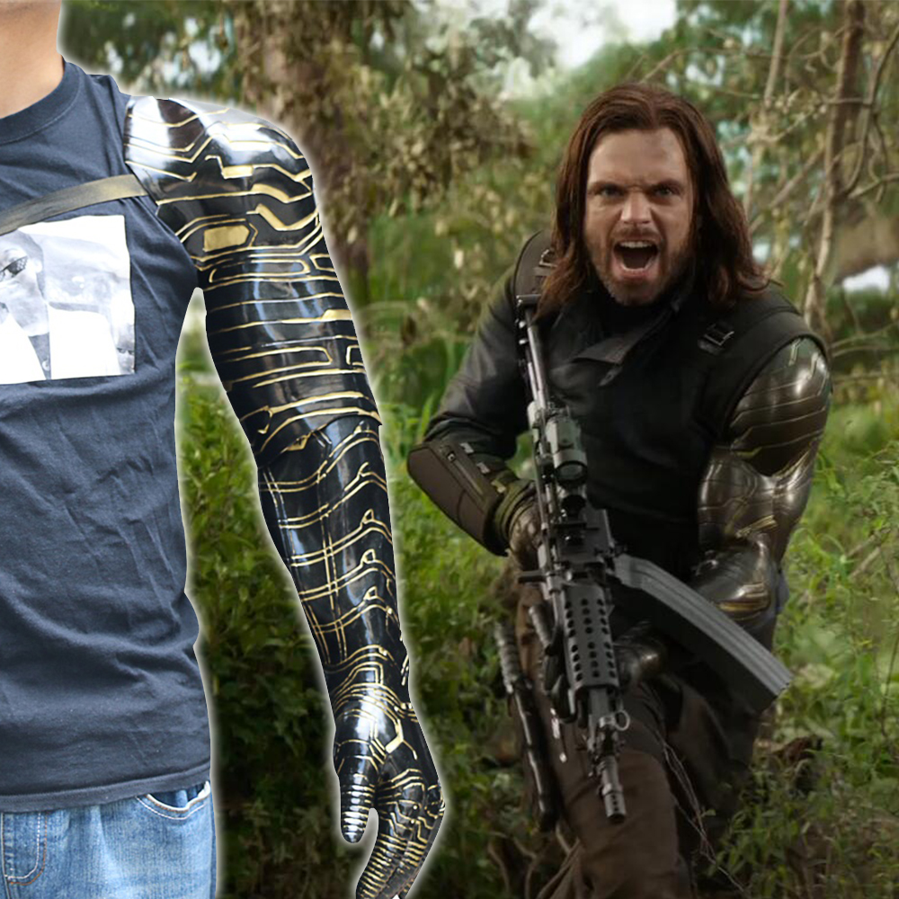Winter Soldier Bucky Arm Armour Props Cosplay Civil War Arm Costume Handmade New