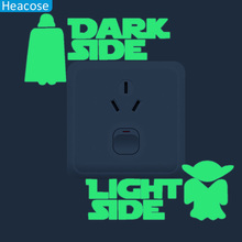 13*15cm Luminous  star war Switch Panel Sticker for Kids Room Bedroom vinyl glow in the dark Poster night light Home Decor