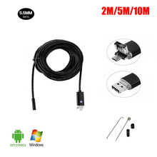 USB Endoscope Android 2IN1 HD 720P 5.5mm Lens 2.0MP Inspection Camera For Smartphone Car Endoscope Flexible Camera Waterproof