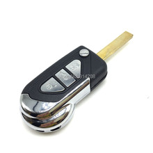 TEMREIPO 3 Buttons Replacement Keys For Citroen Remote Key Blank for c1 c2 c3 c5 Car Flip Key Shell Peugeot Entry System Key Fob(China)