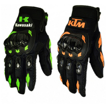 1 Pair Kawasaki KTM Fashion New Full Finger Motorcycle Gloves Motocross Luvas Guantes  Moto Protective Gears Glove