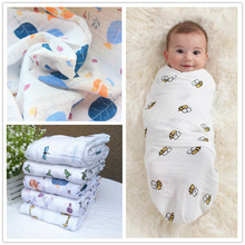 infant Muslin Cotton Soft Newborn Baby Bath Towel Swaddling Blankets Multi Designs Functions bedding Wrap swaddle Aden Anais(China)