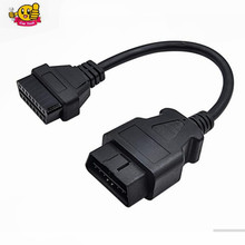 Good quality 16 Pin Male To 16 Pin Female OBD 2 OBD II Extension Factory OBD2 Adapter Connector Free Shipping