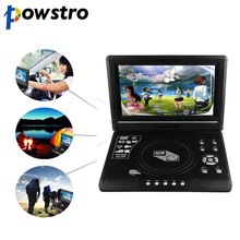 Powstro DVD Player 9.8 inch LCD Display 270 Degree Totatable Swivel Screen Portable DVD Game Player SVCD CD CD-R/RW MP3 MP4(China)