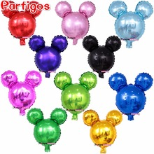 10pcs/lot Cute Mini Mickey Mouse Balloons Cartoon Head Shape Inflatable Helium Ballons theme Birthday Party supplies