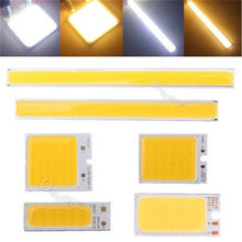 1.8-6W COB LED Strip Light Lamp Bulb Chip Bar Light Pure White Warm White Home Bulb for DIY Car Auto Light Source DRL Lamp DC12V(China)