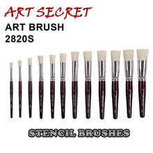 high quality paint art brushes stencil art brush 2820S chungking bristle short wooden handle aluminum ferrule(China)