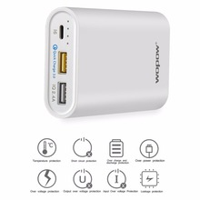 10000mAh Mobile Phone Power Bank Fast Charging Dual USB Output Powerbank Portable External Battery Pack With LED Light Indicator(China)