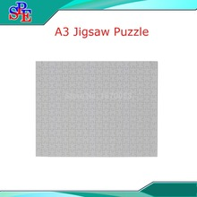 A3 Blank Sublimation Puzzle ,Custom Made Puzzles Blank Heat Transfer Sublimation Transfer Paper Puzle(China)