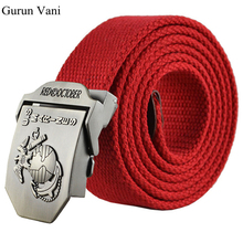 New High Quality Thicken Canvas King Cobra Military Belt Army Tactical Belt Men Strap 16 colors 110 140 cm Free Shipping(China)