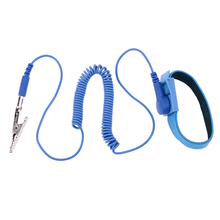 1.8M Wire Anti-Static PVC Cordless wireless Clip Antistatic Wristband Esd Wrist strap Discharge cables for Electrician IC PLCC