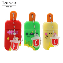 USB Flash Drive Cartoon Ice Cream 4G 8G 16G USB 2.0 Small Popsicle Pen Drive 16G PenDrive Flash Card Flash Memory Stick