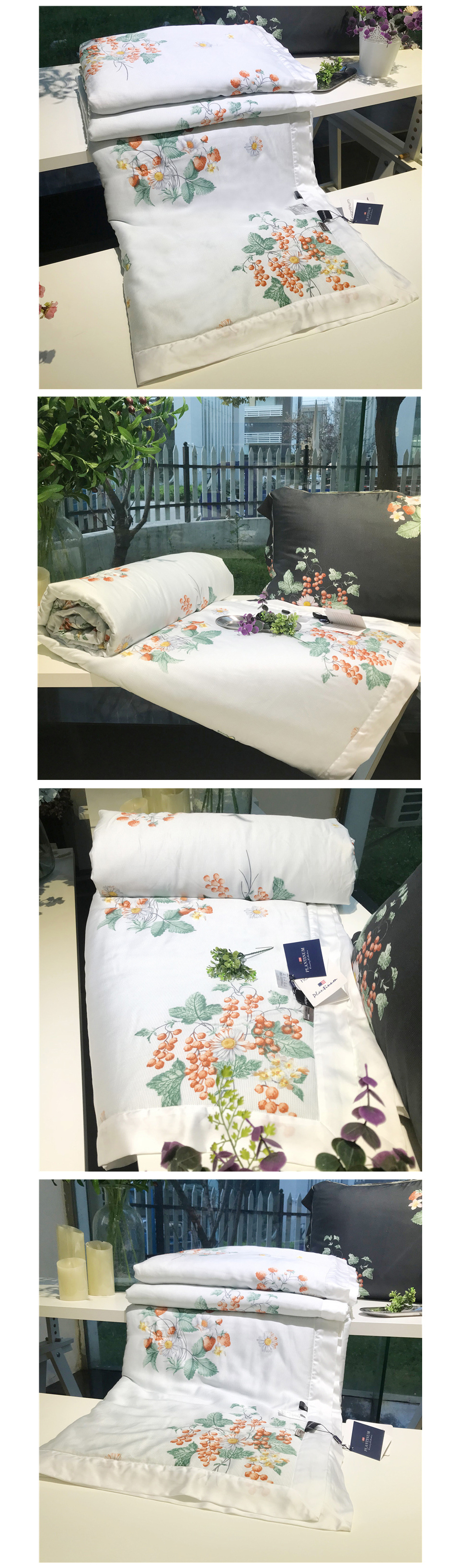 2018 summer comforter bedding set queen size 60s exquisite tencel cotton quilt lyocell fiber bed quilted pastoral flower printing process quilts 13