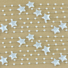 5 Meters Fishing Line Artificial Star Pearls Beads Chain Garland Flowers DIY Wedding Party Decoration Products Supply C2