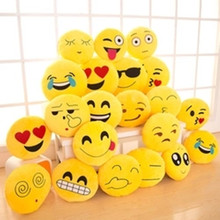 Creative cartoon 8cm cute Hot style QQ expression plush doll mobile phone pendant plush accessory stuffed toy gift 10pc