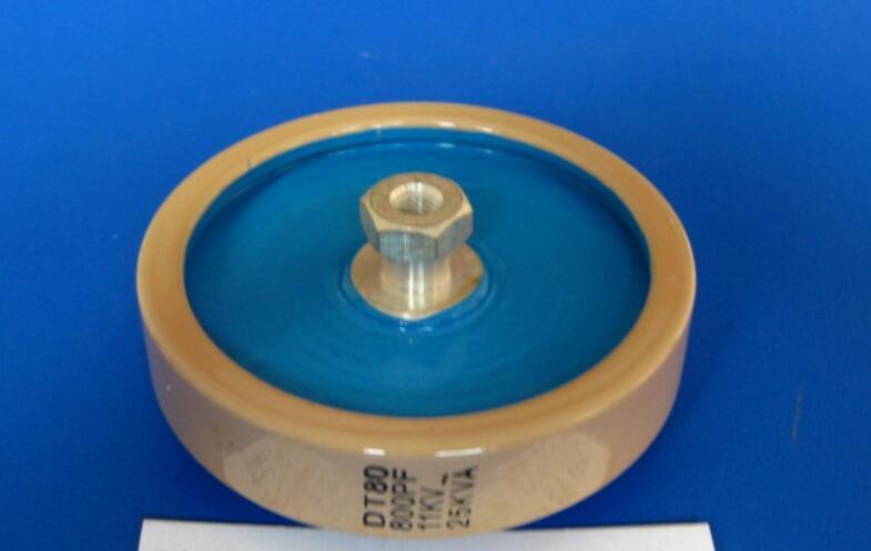 Round ceramics Porcelain high frequency machine  new original high voltage DT80 800PF 11KV 25KVA  <br>
