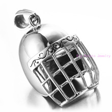 Refinement Polishing Silver Fencing Mask Knight Men's Collarbone Jewelry Pendant Necklace Stainless Steel Free 60cm Box Chain