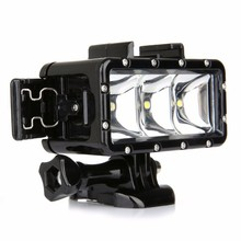 GoPro flashLight lamp Underwater Diving Waterproof LED Flash Video Light For Go Pro Hero 5/4/3+,SJCAM SJ4000/Xiaomi Yi(China)