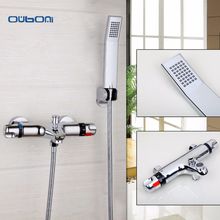 Good Quality Brass Chrome t Thermostatic Bathroom Shower Faucet Bathtub Faucet Wall Mounted Bathroom Thermostatic Fauce