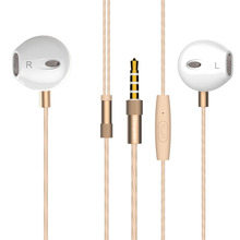 2 pack In-Ear Stereo Earphones AUX 3.5MM Jack Earplugs Super Bass Handsfree With MIC for iPhone mp4 pc free shipping