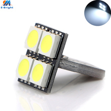 100Pcs/Lot T10 W5W 194 168 5050 4 SMD LED Clearance Lights Car Interior Reading Door Lamps White 12V Wholesale(China)