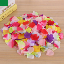 1000Pcs/Set Artificial Silk Rose Flowers Petals Party Wedding Decoration Festival Decor Romantic Rose Flower Petals(China)